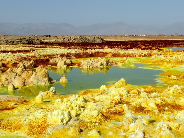 Surreal landscape of Dallol